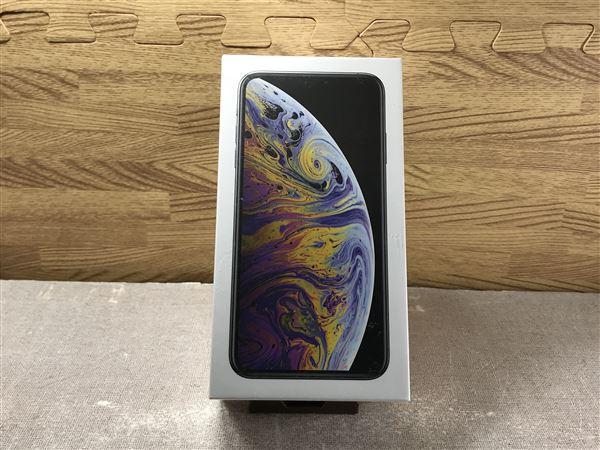 【中古】【安心保証】 iPhoneXSMax[64G-A2104]★香港版 SIMフリー★【デュアルSIM】シルバー
