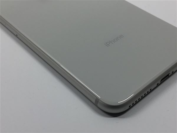 【中古】【安心保証】 au iPhone8Plus[64G] シルバー