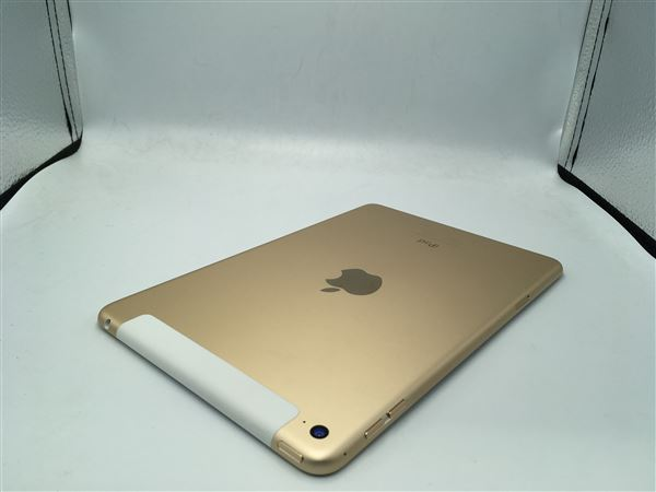 【中古】【安心保証】 au iPadmini-7.9_4[セルラー64G] ゴールド