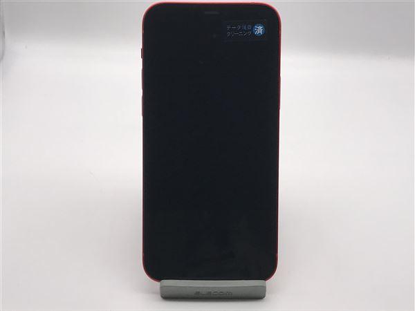 【中古】【安心保証】 au iPhone12[128G] レッド