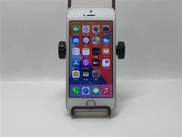 【中古】【安心保証】 docomo iPhoneSE[64G] ゴールド SIMロック解除済