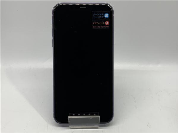 【中古】【安心保証】 SIMフリー iPhone11[64G] パープル