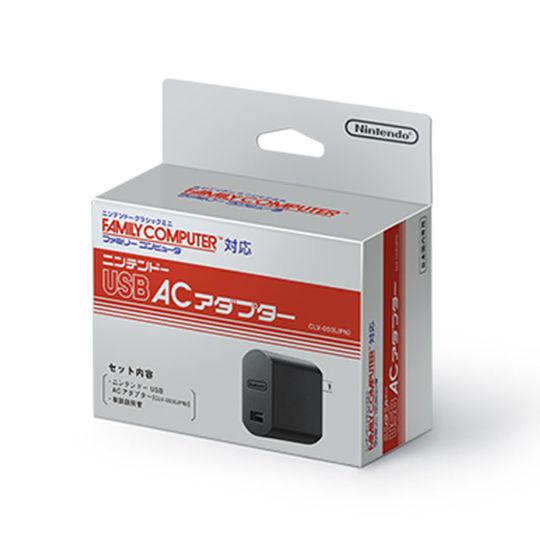 【中古】ニンテンドーUSB ACアダプター ファミリーコンピュータ柄パッケージ