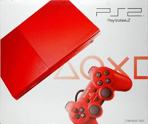 【中古】PlayStation2 SCPH−90000CR シナバー・レッド (限定版)