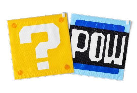 【新品】スーパーマリオ トラベル 衣類圧縮袋(ハテナブロック/POWブロック)