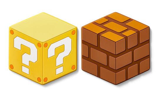 【新品】スーパーマリオ ホーム&パーティ シリコンコースター(ハテナブロック/ブロック)