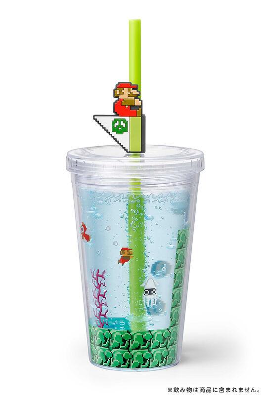 【新品】スーパーマリオ ホーム&パーティ ストロータンブラー(水中コース)