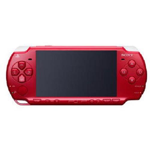 【中古・箱無・説明書無】PlayStation Portable PSP−2000DR ディープ・レッド (限定版)
