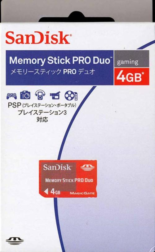 【中古】サンディスク/メモリースティックPRO Duo 4GB