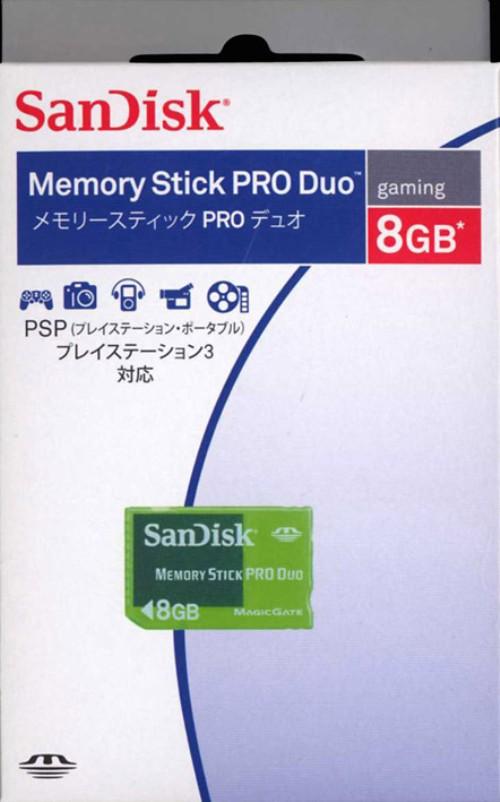 【中古】サンディスク/メモリースティックPRO Duo 8GB