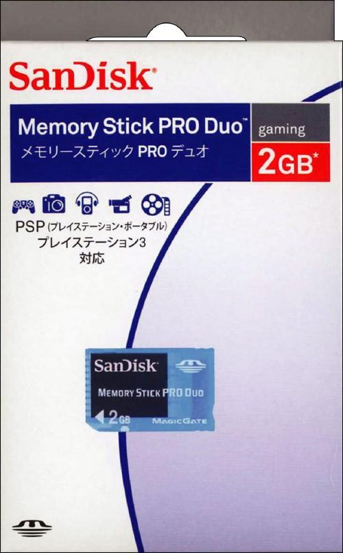 【中古】サンディスク/メモリースティックPRO Duo 2GB