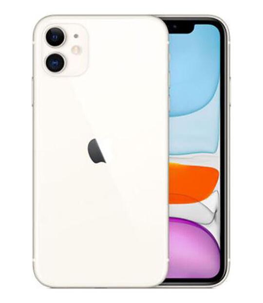 【中古】【安心保証】 UQモバイル iPhone11[64G] ホワイト