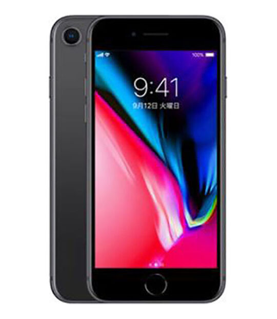 【中古】【安心保証】 UQモバイル iPhone8[64G] スペースグレイ