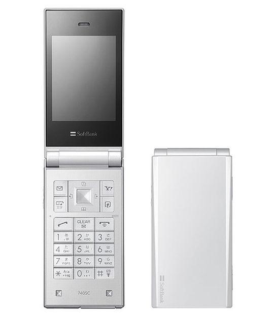 【中古】【安心保証】 SoftBank 740SCプリモバイル ホワイト