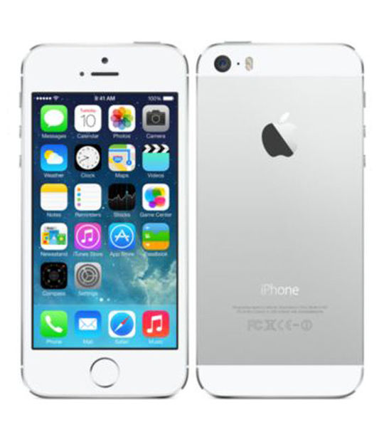 【中古】【安心保証】 au iPhone5s[64GB-a] シルバー