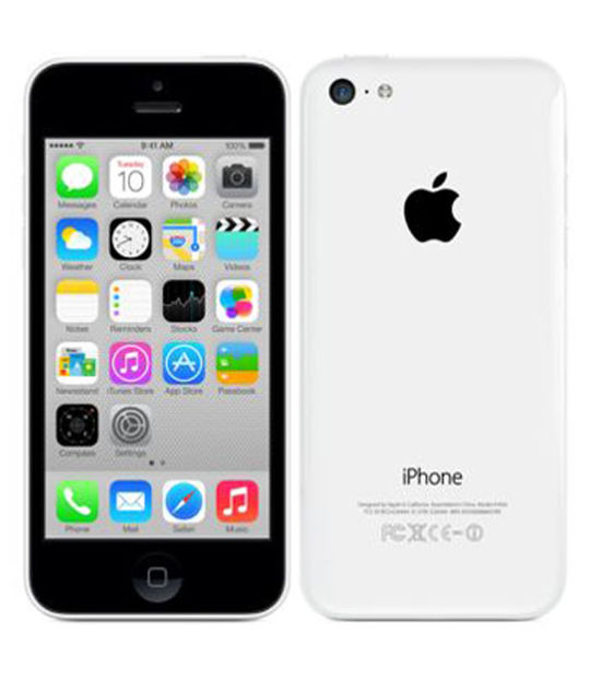 【中古】【安心保証】 au iPhone5c[16GB-a] ホワイト