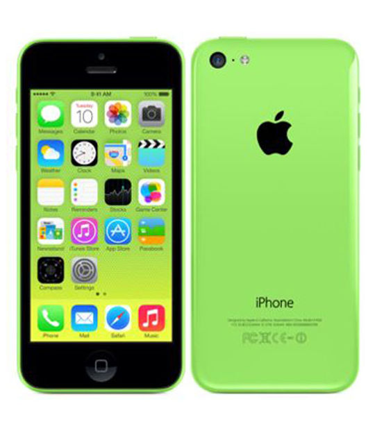 【中古】【安心保証】 au iPhone5c[16GB-a] グリーン