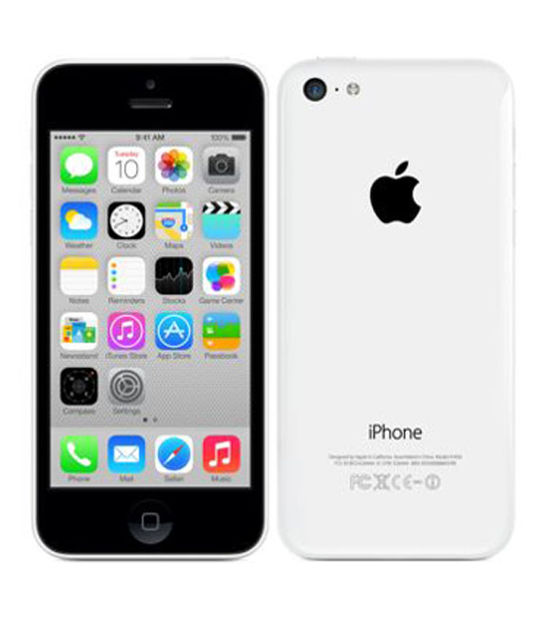 【中古】【安心保証】 au iPhone5c[32GB-a] ホワイト