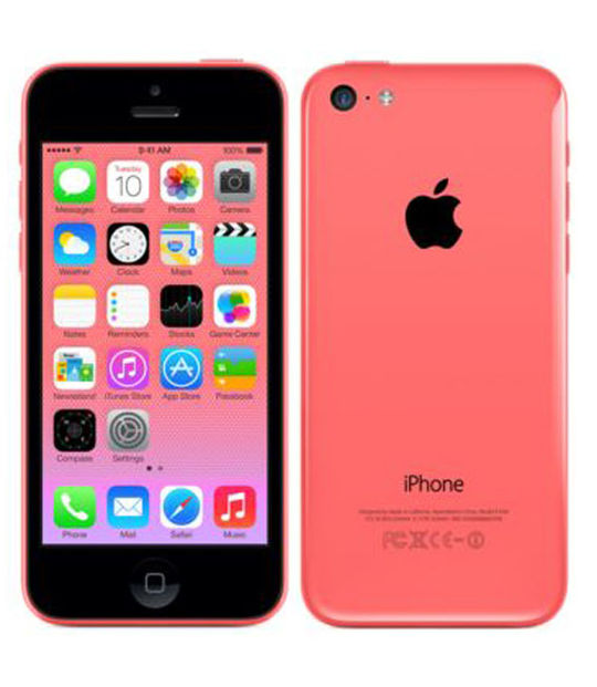 【中古】【安心保証】 au iPhone5c[32GB-a] ピンク