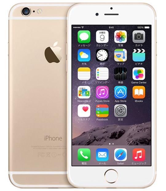 【中古】【安心保証】 SIMフリー iPhone6[128G] ゴールド
