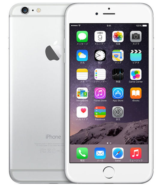 【中古】【安心保証】 SoftBank iPhone6Plus[16GB] シルバー