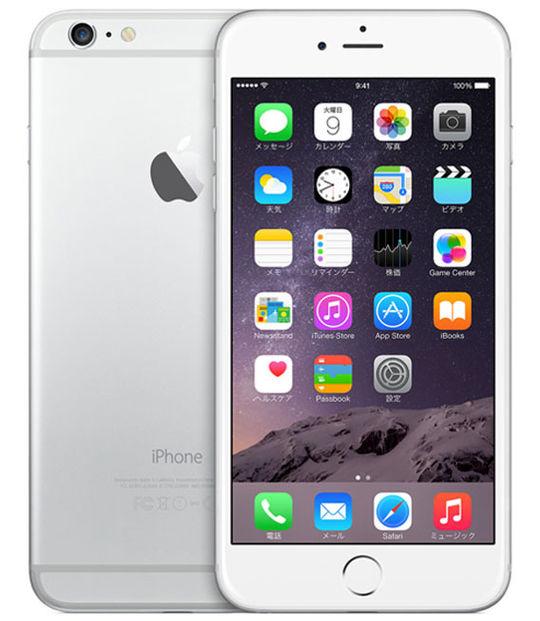 【中古】【安心保証】 SIMフリー iPhone6Plus[128G] シルバー