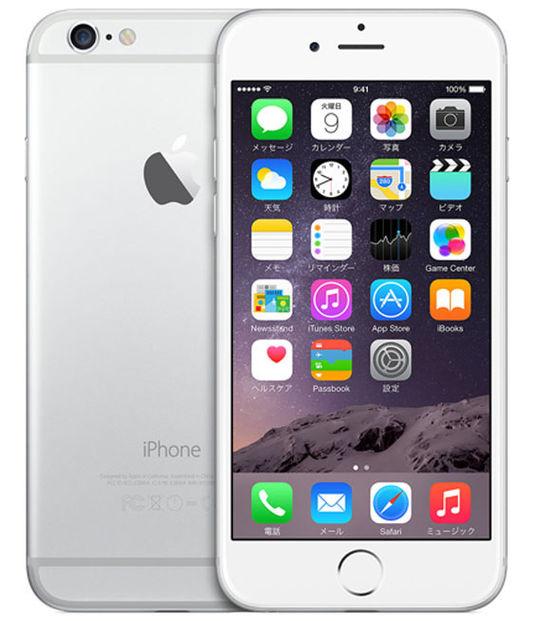 【中古】【安心保証】 SoftBank iPhone6[128G] シルバー