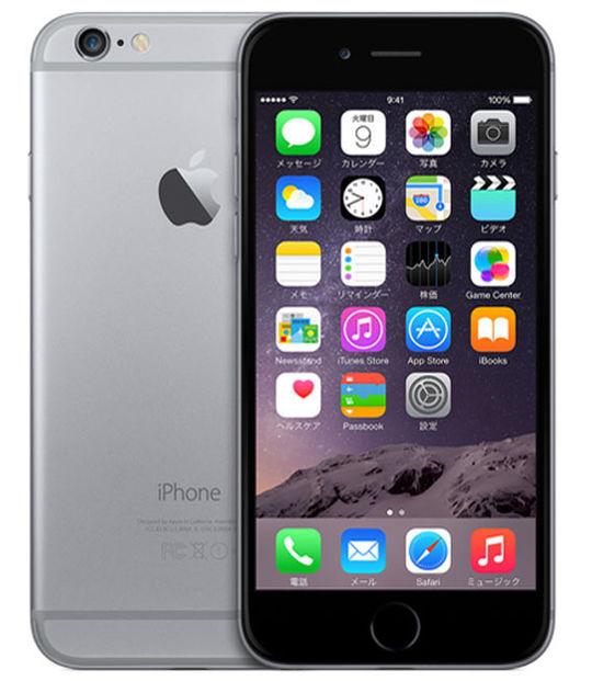 【中古】【安心保証】 SIMフリー iPhone6[128G] スペースグレイ