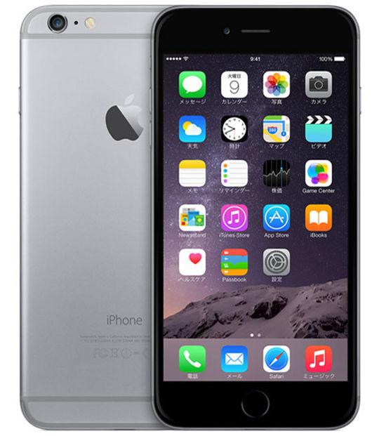 【中古】【安心保証】 au iPhone6Plus[64GB] スペースグレイ