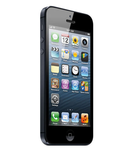 【中古】【安心保証】 au iPhone5[32G] ブラック&スレート