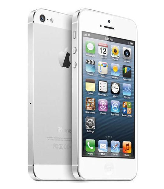 【中古】【安心保証】 au iPhone5[64G] ホワイト&シルバー
