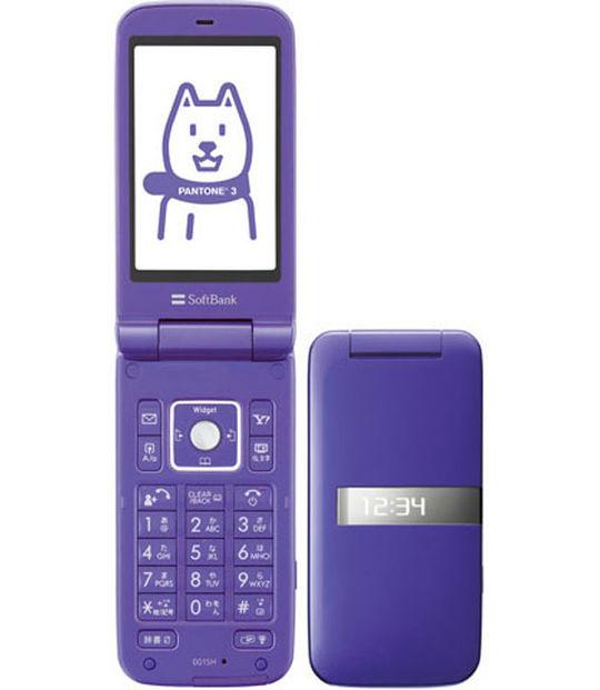【中古】【安心保証】 SoftBank 001SH パープル