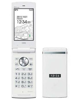 【中古】【安心保証】 au K006[KY006] クリアホワイト