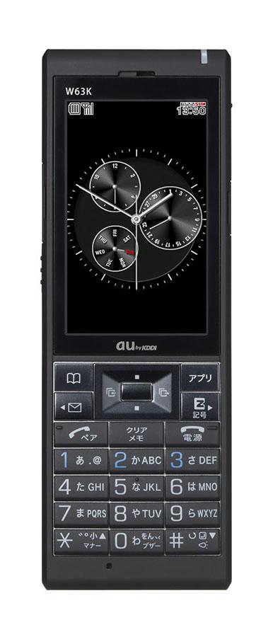 【中古】【安心保証】 au W63K マジェスティックブラック