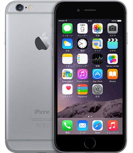 【中古】【安心保証】 SIMフリー iPhone6[16G] スペースグレイ