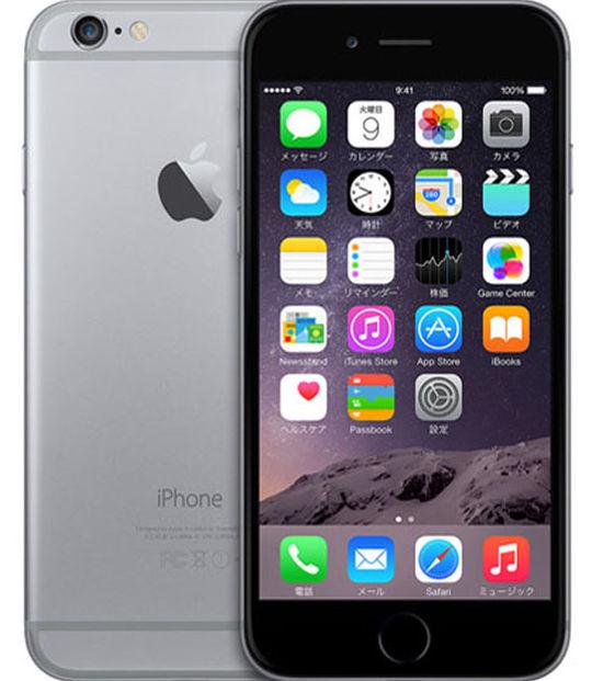 【中古】【安心保証】 SIMフリー iPhone6[64G] スペースグレイ