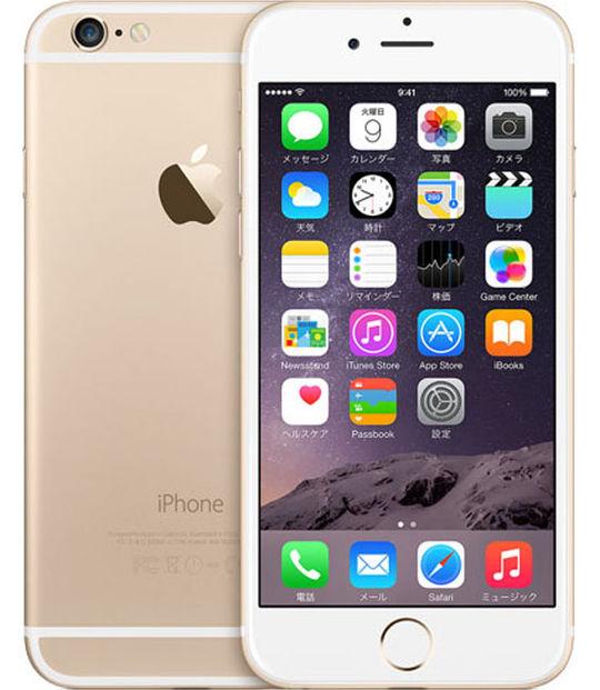 【中古】【安心保証】 SIMフリー iPhone6[64G] ゴールド