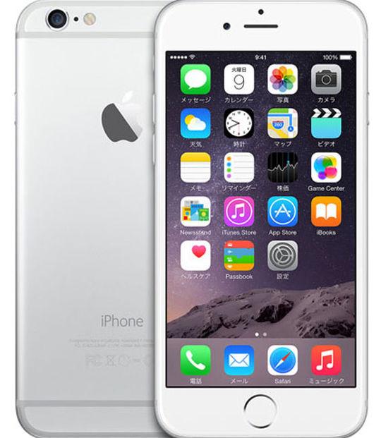 【中古】【安心保証】 SIMフリー iPhone6[128G] シルバー