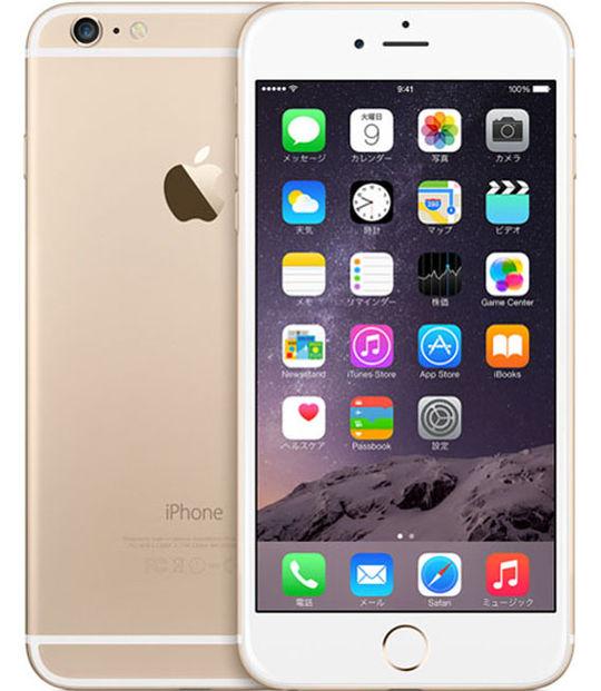【中古】【安心保証】 SIMフリー iPhone6Plus[16G] ゴールド