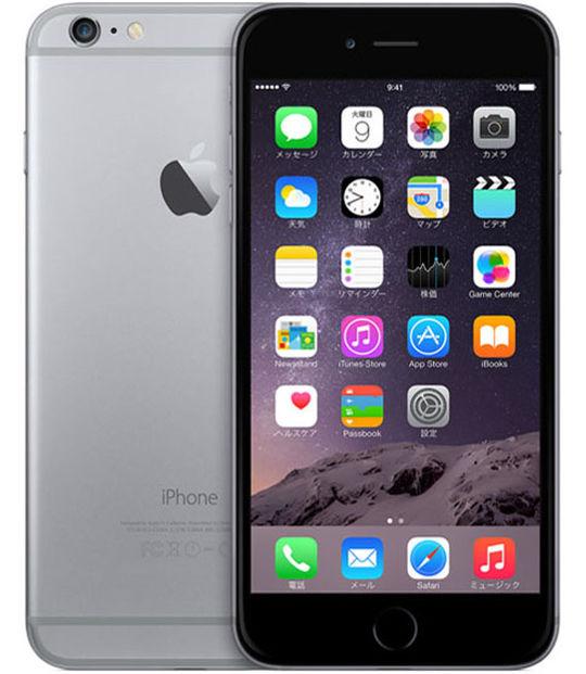 【中古】【安心保証】 SIMフリー iPhone6Plus[128G] グレイ