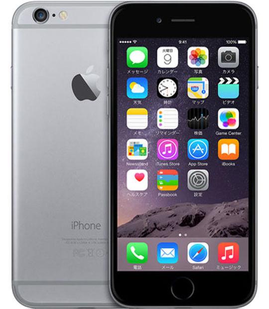 【中古】【安心保証】 SIMフリー 海外版 iPhone6 16GB スペースグレイ