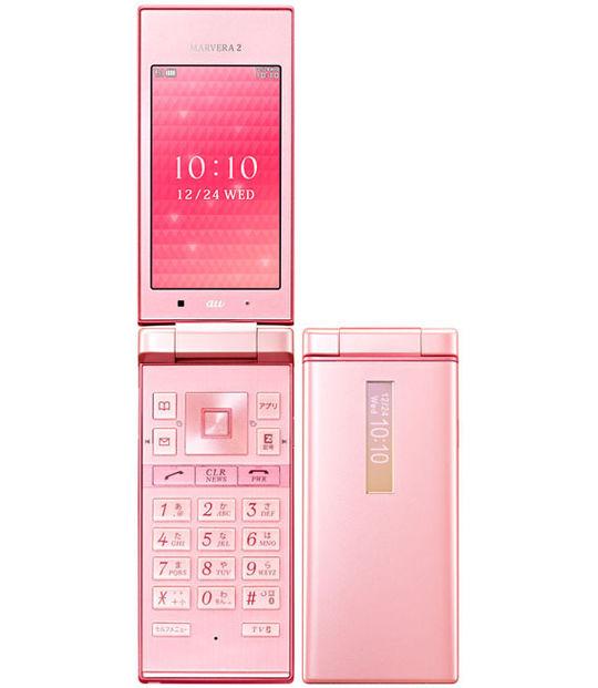 【中古】【安心保証】 au KYY09 ピンク