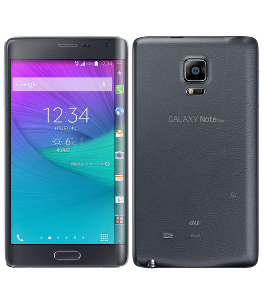 【中古】【安心保証】 au GALAXY Note Edge SCL24