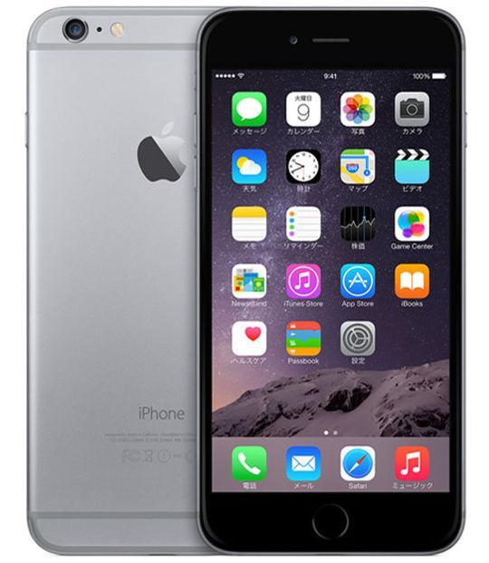 【中古】【安心保証】 au iPhone6Plus[64G] スペースグレイ