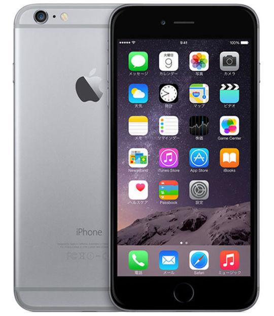【中古】【安心保証】 au iPhone6Plus[128GB] スペースグレイ