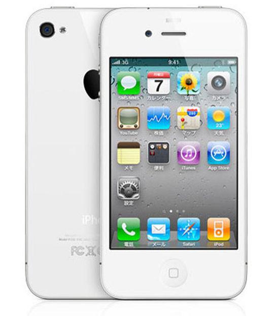 【中古】【安心保証】 SoftBank iPhone4[32GB] ホワイト
