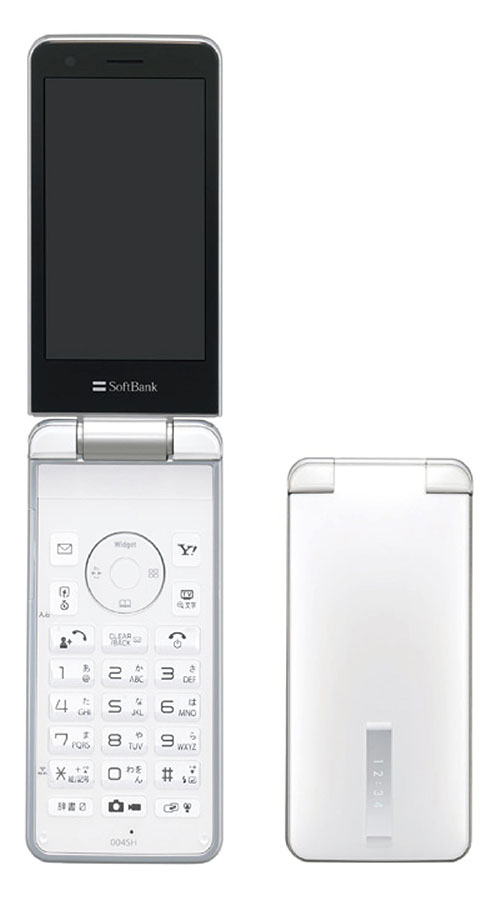 【中古】【安心保証】 SoftBank 004SH ホワイト