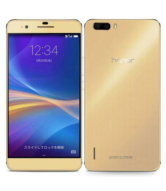 【中古】【安心保証】 SIMフリー honor6Plus ゴールド