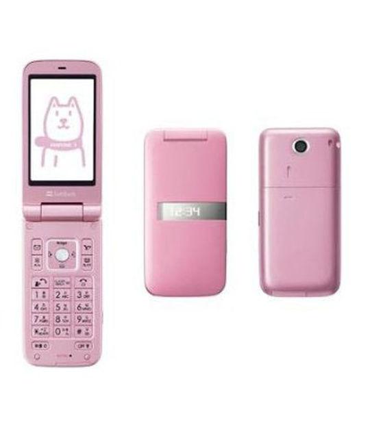 【中古】【安心保証】 SoftBank 001SH ピンク