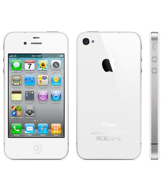 【中古】【安心保証】 au iPhone4S[32GB] ホワイト